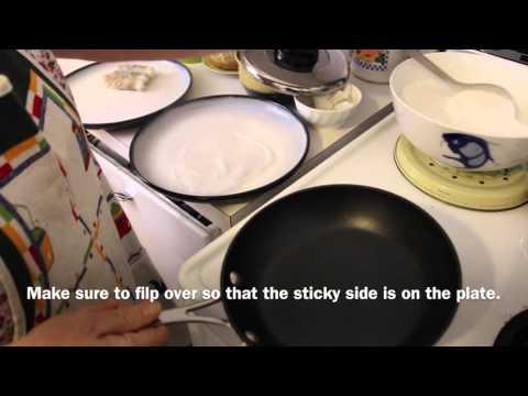 Vegan Vietnamese Recipe: Banh Cuon, Steamed Rolls