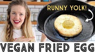 Vegan Fried Egg - with a runny vegan egg yolk!