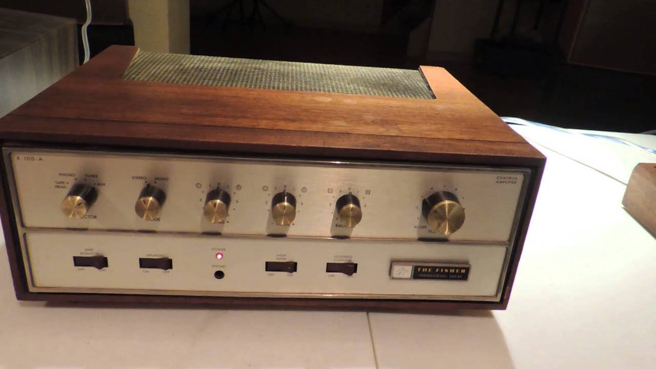 100 Amp Disconnect >> The Fisher X-100-A integrated tube amp & ADS L730 speakers 3 - YouTube