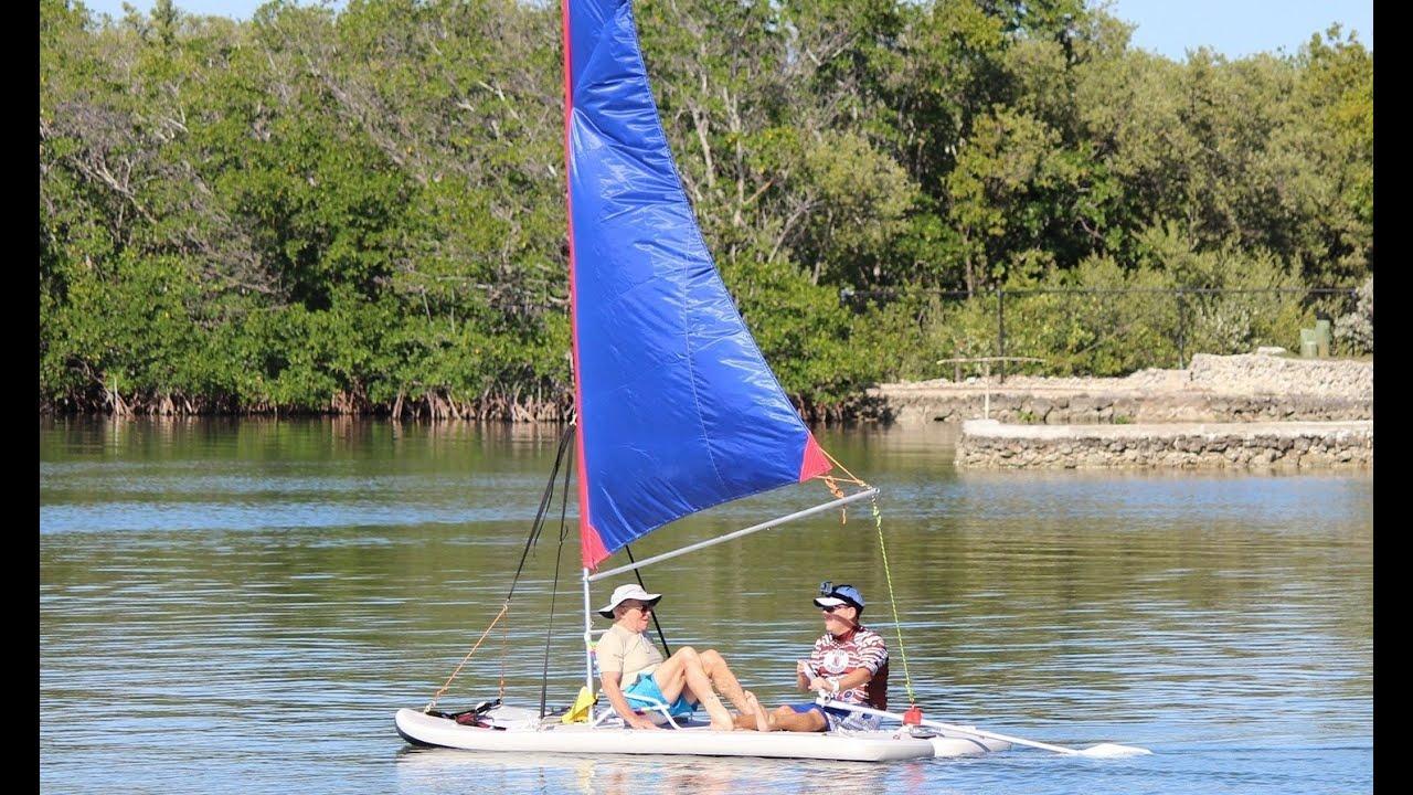 Inflatable Sail Catamaran Paddle Board Combo Patent