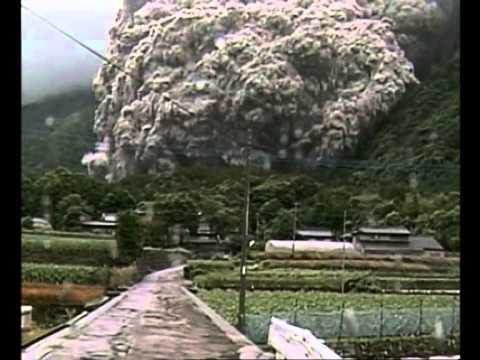 Eruption volcanique du mont Unzen au Japon 1991  un exemple de coules pyroclastiques  YouTube