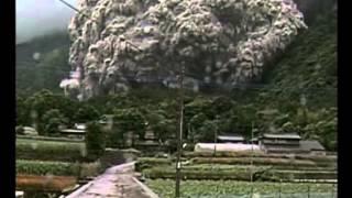 Eruption volcanique  du mont Unzen au Japon (1991) : un exemple de coulées pyroclastiques