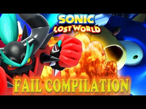 SONIC LOST WORLD FAIL COMPILATION - RED RINGS CREATE RAGE
