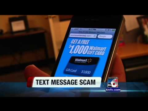 Latest scam: Walmart gift card text message