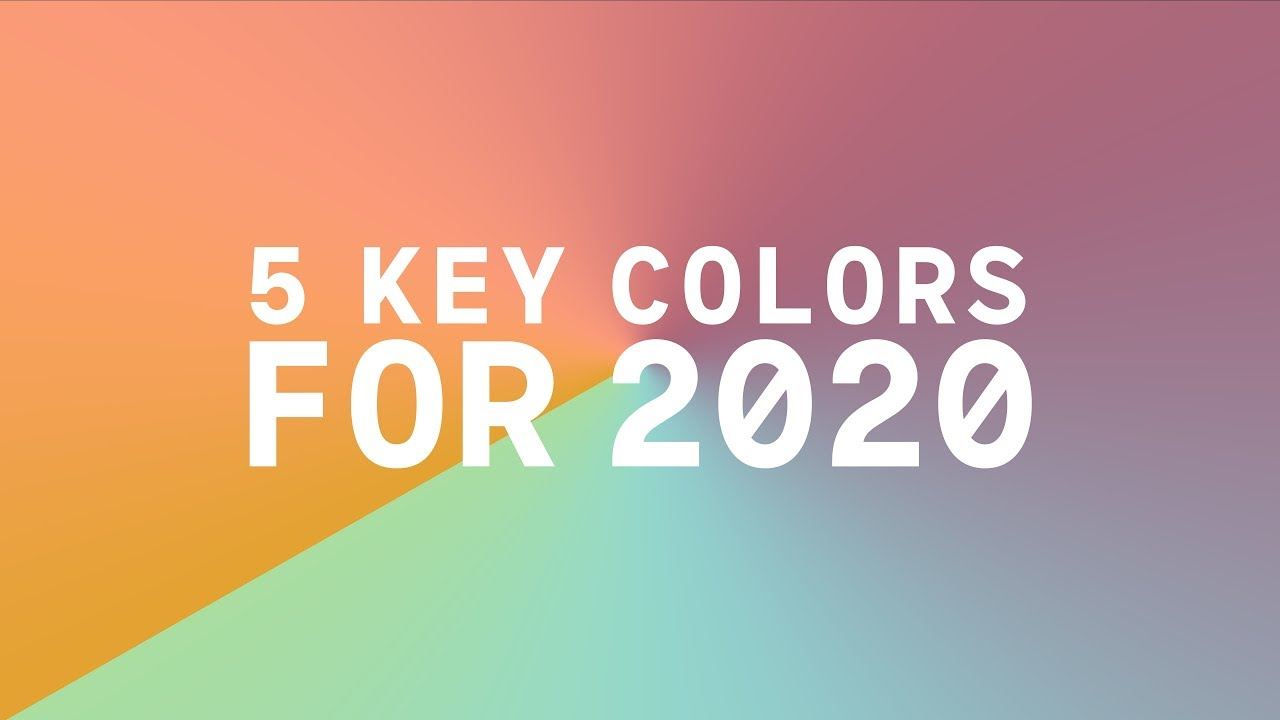 Color Trends For 2020.Coloro X Wgsn Key Colors 2020