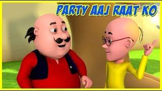 Motu Patlu | Party Aaj Raat Ko | Motu Patlu in Hindi
