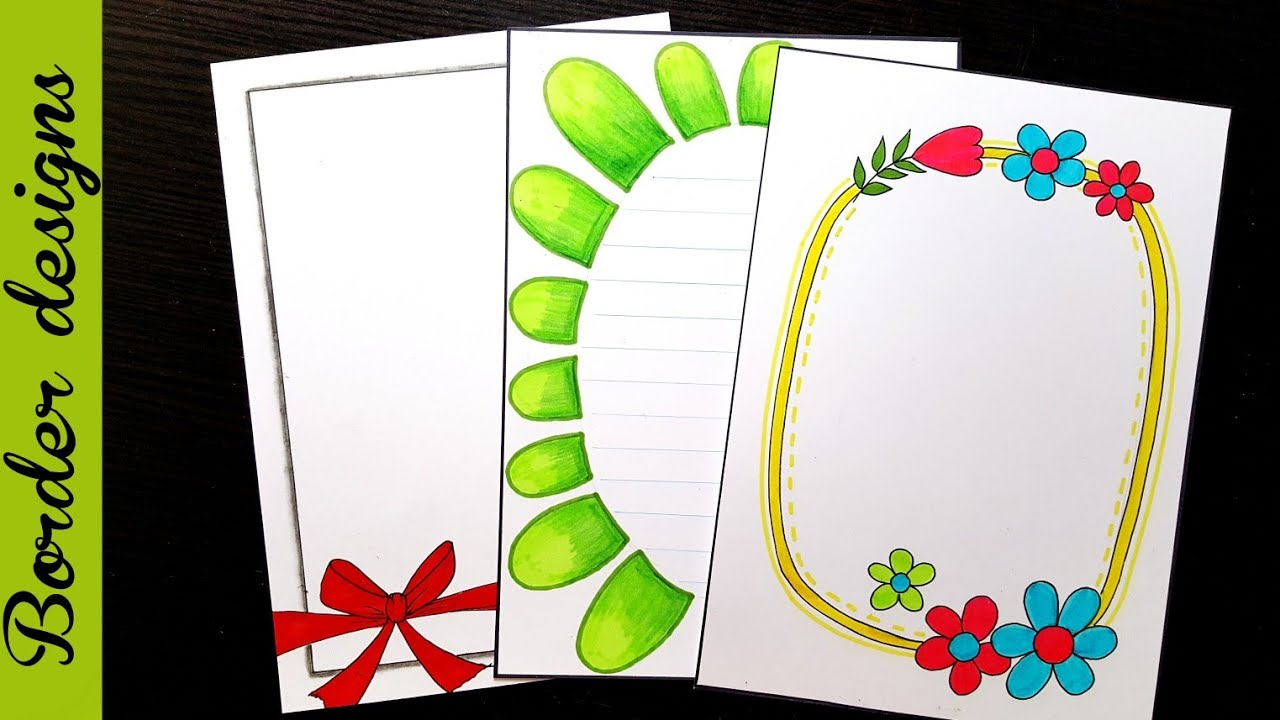 Easy Border Designs On Paper