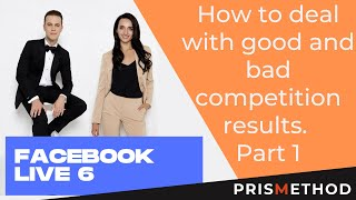"""FACEBOOK LIVE 6 """"How to deal with good and bad competition results. Part 1"""" by Iaroslav and Liliia"""