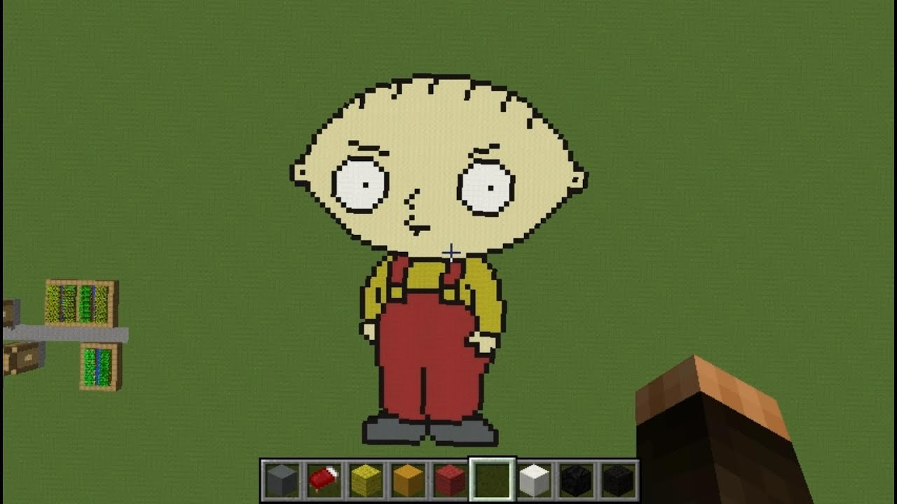 Stewie Griffin Minecraft Pixel Art Creative Builds 15 Family Guy