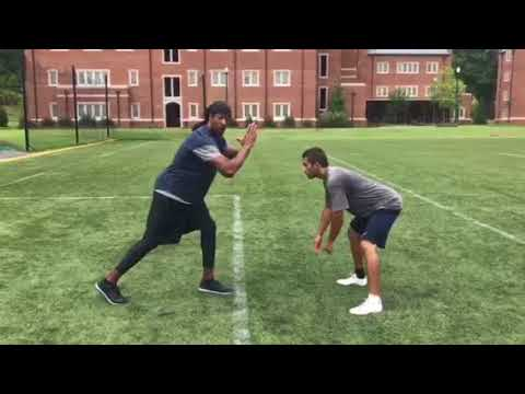 Wide Receiver Training: hand placement before snap