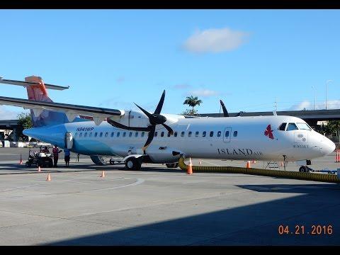 GoPro Aerospatiale ATR 72-212 Island Air Hawaii Kahului, Maui to Honolulu, Oahu