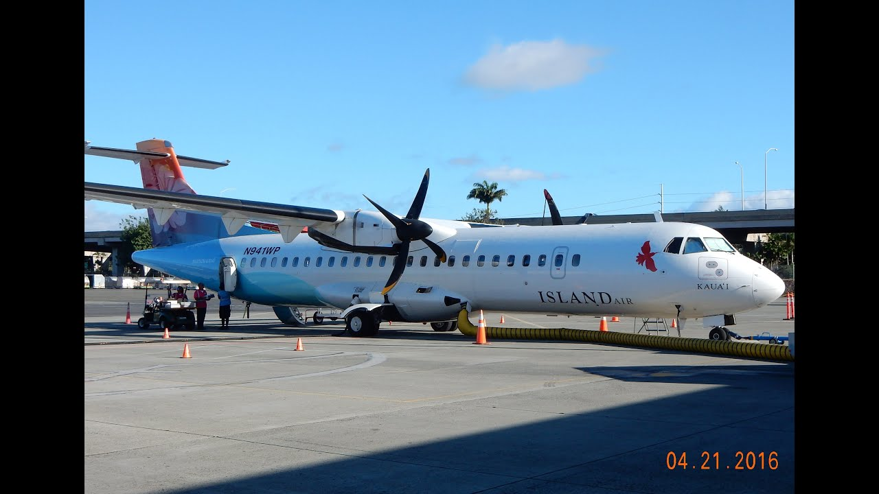GoPro Aerospatiale ATR 72-212 Island Air Hawaii Kahului ...