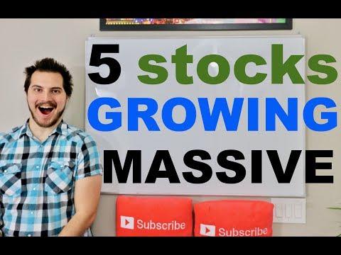 5 Stocks Growing Massively!