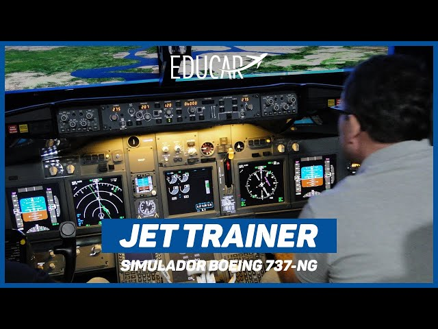 TREINAMENTO simulador JET TRAINER | BOEING 737-NG ✈