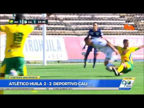 Julio 17 2017 Deportivo Cali empató 2-2 ante Huila por segunda fecha de Liga Águila