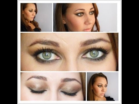 CELEBRITY Makeup: Kim Kardashian Brown Smokey Eye - YouTube