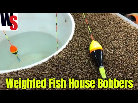 JB Lures Fish House Floats Weighted And Non-Weighted For Ice Fishing