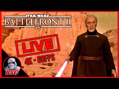 Trying For Dooku Streaks... Star Wars Battlefront 2 PC Gameplay | 4K Live Stream (4K 60FPS) thumbnail