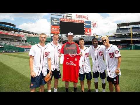 Mesut Ozil's first pitch, plus who's the best in the batting cage?   Arsenal x Washington Nationals