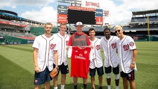 Mesut Ozil's first pitch, plus who's the best in the batting cage? | Arsenal x Washington Nationals