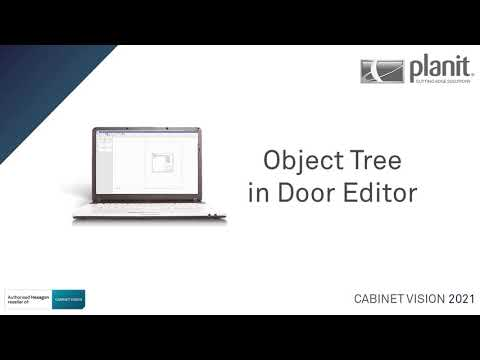 Access the Object Tree in the Door Editor | CABINET VISION 2021