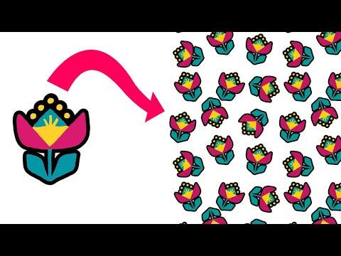 как сделать БЕСШОВНЫЕ ПАТТЕРНЫ/ Текстильные паттерны в Adobe Illustrator