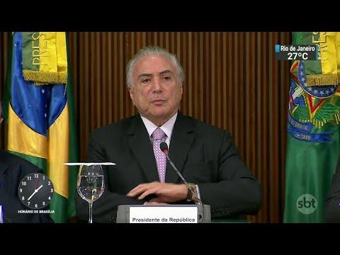 Temer aproveita tempo livre na agenda e se reúne com aliados em Brasília | SBT Notícias (26/03/18)