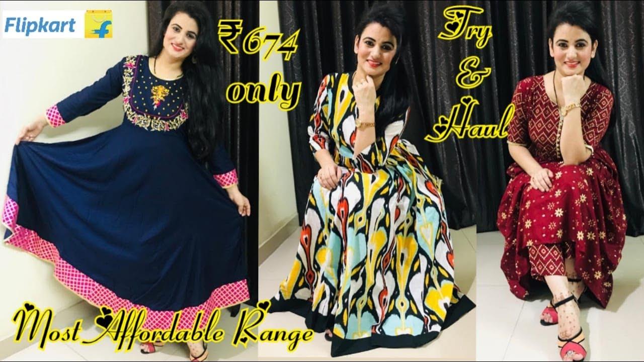 Flipkart Kurta Haul | Maxi Dress Haul | Sangria Cotton and MISREE Ryon Fabric Review