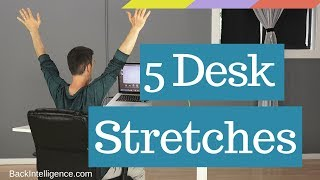 5 Stretches At Your Desk (Without Getting Up)