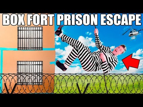 Thumbnail: 24 HOUR FOUR STORY BOX FORT PRISON ESCAPE!! 📦🚔
