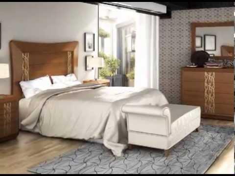 Dormitorios con camas mesillas y tocadores de estilo for Mesillas de diseno moderno