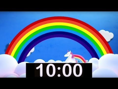 10 Minute Rainbow Timer with Music! Countdown Timer for Kids! - YouTube
