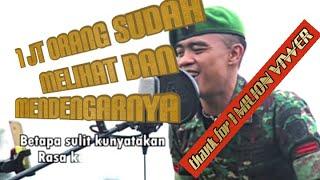 TERHANYUT DALAM KEMESRAAN lIRIK FAUZY BM ( IKKE NURJANAH )VERSI PRAJURIT TNI COVER PRAJURIT KUJANG