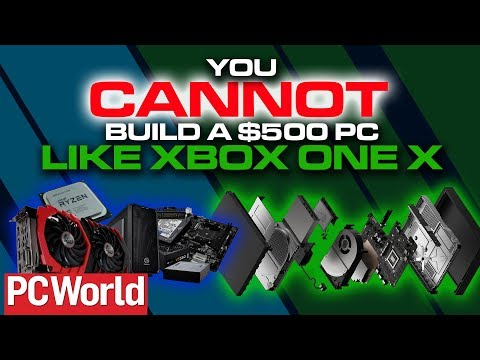 PC World says you CANNOT build a $500 Xbox One X KILLER - Colteastwood