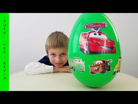 ТАЧКИ большое яйцо с сюрпризом Киндер сюрприз тачки игрушки Детские игры и видео для детей