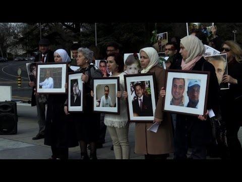Vigil for Syrian detainees held ahead of peace talks