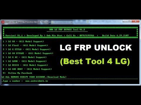 OMH LG FRP Bypass Tool v1 2 - Top LG FRP Tool 2019