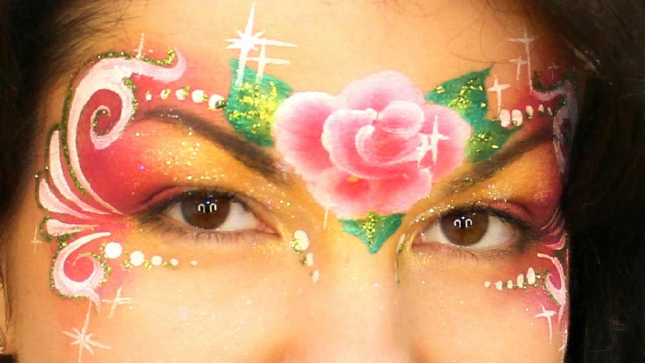 Easy Rose Princess Mask One Stroke Face Painting