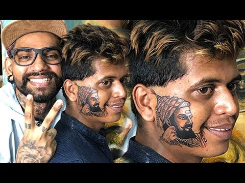 chhatrapati-shivaji-maharaj-tattoo-on-face