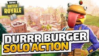 Durrr Burger Solo Action! - ♠ Fortnite Battle Royale ♠ - Deutsch German - Dhalucard