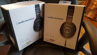 Audio Technica ATH-M30/40x review/comparison