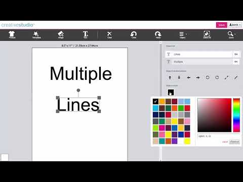 Sawgrass CreativeStudio:  Create Multiple Lines of Text