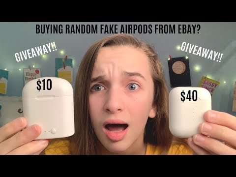 giveaway buying random fake airpods from ebay youtube. Black Bedroom Furniture Sets. Home Design Ideas
