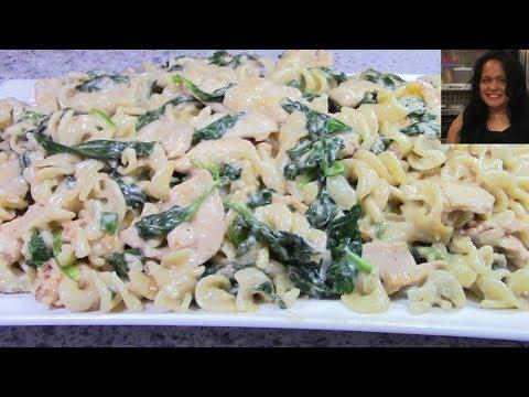 tasty-creamy-chicken-spinach-alfredo-rotini-pasta-|-evecalmaskitchen-v.6