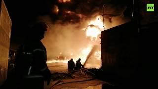 Под Нижним Новгородом на промышленном складе произошёл крупный пожар