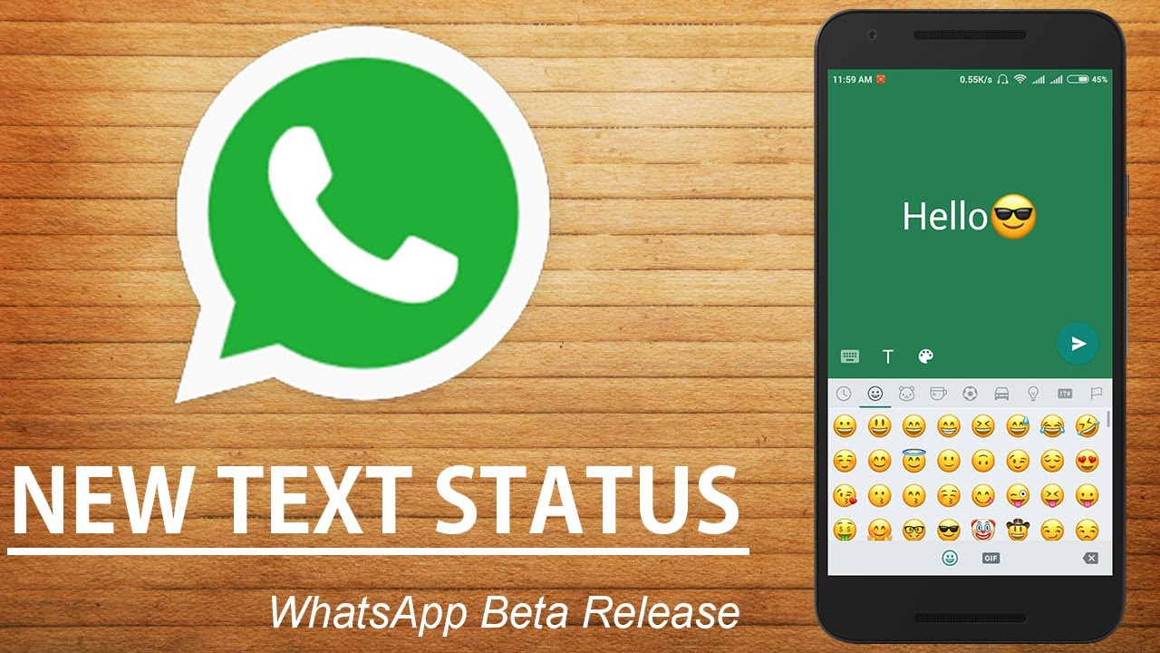 Whatsapp New Text Status Feature Android Member