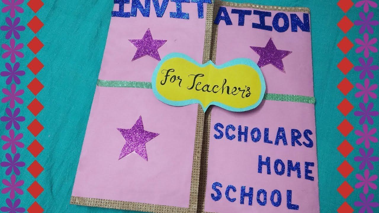 diy farewell invitation card for teachers i made it for
