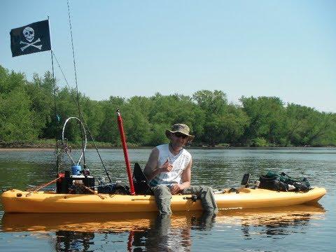 Yakin off 2012 wisconsin river kayak fishing trip gopro for River fishing kayak