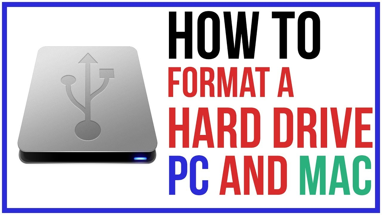 How To Format A Hard Drive To Work On Mac and PC
