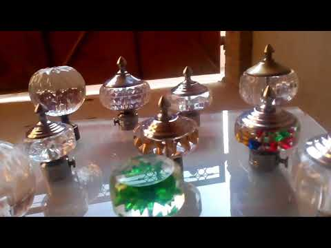 Crystal Curtain Hanging rods Stoppers rods Metallic Mssembled items